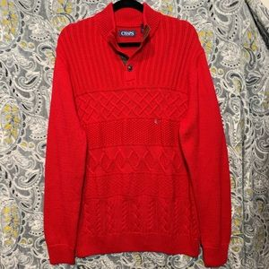 CHAPS Men's Large Red Pullover Knit Sweater